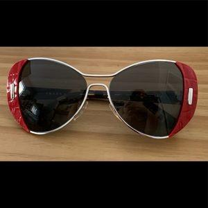 Prada Sunglasses Red and Tortoiseshell Frame